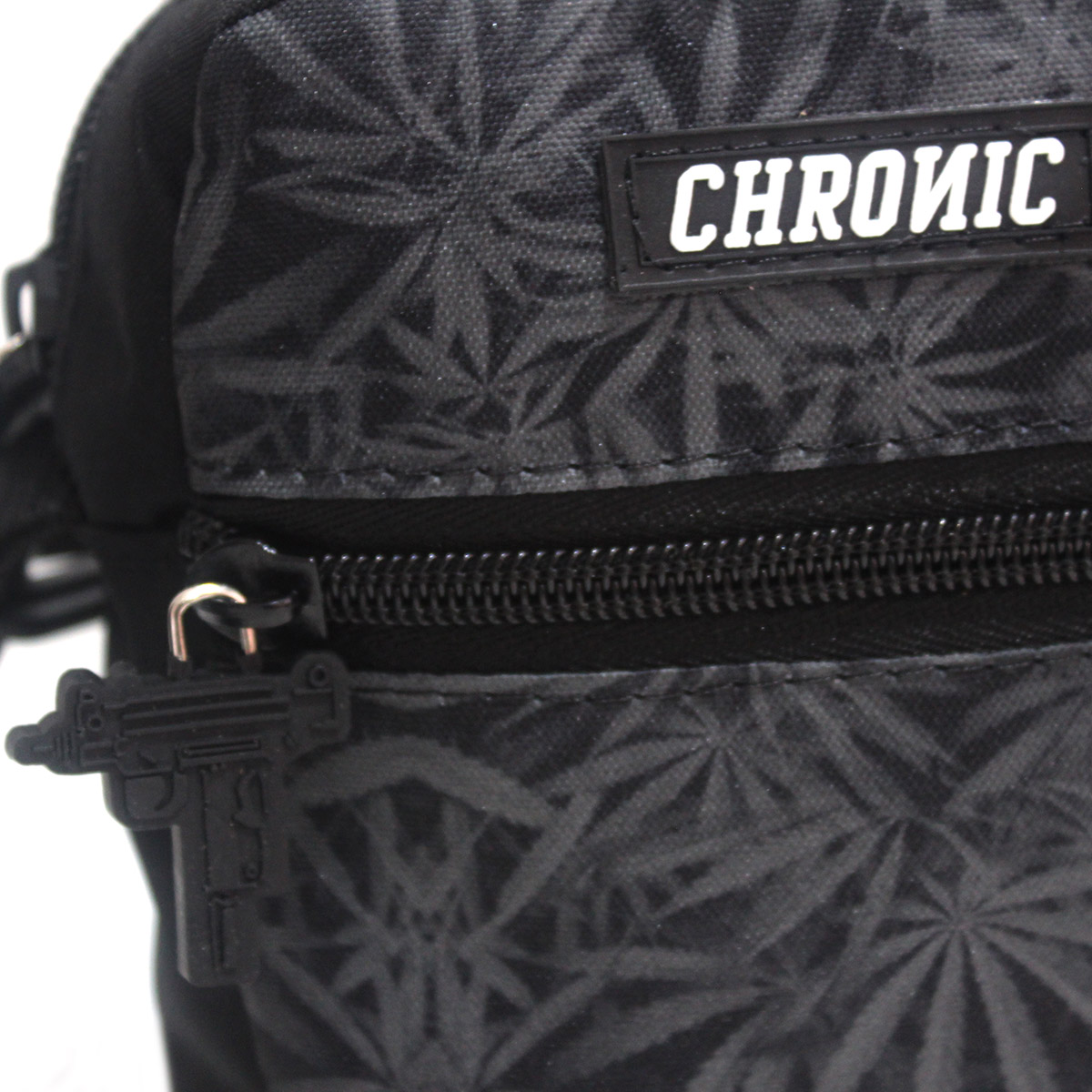 Shoulder Bag Chronic Cannabis 420 Dupla Face Preto