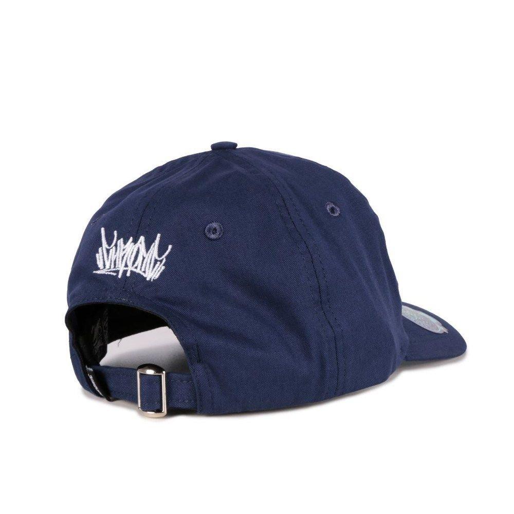 Boné Chronic 420 Dad Hat Azul Marinho Ganja Bordado Original.